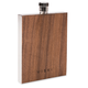 Viski Admiral Wood Paneled Stainless Steel Flask - 3 oz