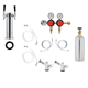 2 Pressure / 2 Product Tower Kegerator Conversion Kit - Stainless Steel Tower - US Sankey D System - 5lb CO2 Tank