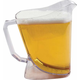 San Jamar Low Profile Perfect Pour Beer Pitcher - 60 oz