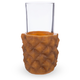 Retro Pineapple Cup Holders with Highball Glasses - 9.6 oz - Set of 4