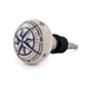 Seaside Ceramic Compass Bottle Stopper