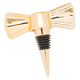 Ceramic Bow Bottle Stopper with Gold Finish