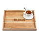 Personalized Acacia Wood Serving Tray with Copper Handles