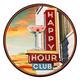 Happy Hour Club Metal Bar Sign