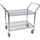 Chrome 2 Shelf Wire Cart - 18