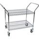 Chrome 2 Shelf Wire Cart - 24