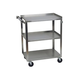 Stainless Steel 3 Shelf Utility Cart - 300 lb Capacity