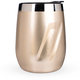 EcoVessel PORT Triple Insulated Stainless Steel Wine Tumbler with Lid - 10 oz - Gold