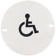 Handicap Round Bathroom Sign - Stainless Steel