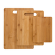 Bamboo Cutting Boards - 3 Piece Set - Ideal For Bar & Kitchen