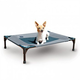 KH Mfg Gray/Blue Coolin Pet Cot Large
