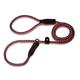 British Reflective Rope Slip Dog Lead 6ft Red