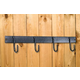 4 Hook Tack Rack Black