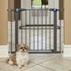 Midwest GLOW Graphite Steel Pet Gate 39in Tall