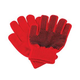 Pebble Palm Stretch Gloves Red