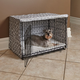 Quiet Time Covella Gray Dog Crate Cover 48in