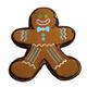 Pridebites Gingerbread Man Christmas Dog Toy