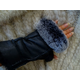 Morris Kaye Handsfree Shearling Gloves w/Rabbit Br