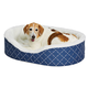 Quiet Time Ortho Blue Cradle Dog Bed XSmall