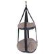 Pet Life Kittyhaus Dual-Lounger Cat Pillow Grey