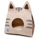 Touchcat Kitty Ears On-The-Go Cat Bed Brown