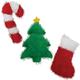 Grriggles Holiday Fuzzle Plush Dog Toy Candy Cane