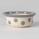 Petrageous Polka Paws Gray Pet Bowl 4 cups