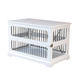 Merry Products Slide Aside Crate/End Table White