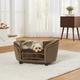 Enchanted Home Pet Plush Mink Snuggle Sofa Dog Bed