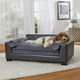 Enchanted Home Pet Skylar Dark Grey Sofa Dog Bed