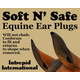 Soft N Safe Equine Ear Plugs Brown