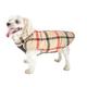 Pet Life Allegiance Plaid Dog Coat XSmall White