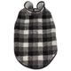 Pet Life Black Boxer Plaid Dog Coat XSmall