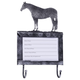 Deluxe Silver Stall Card Holder w Hooks Qtr Horse