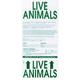 Travel Crate LBL Live Animal Sticker