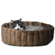 KH Mfg Microfleece Kitty Cup Tan Cat Bed Small