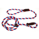 Slip Lead for Dogs 6 Foot Red/White/Blue