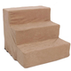 Majestic Pet 3 Step Suede Dog Stairs  Stone