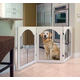 Universal Free Standing Wire Pet Gate  Cherry