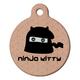Ninja Kitty Cat ID Tag