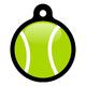 My Tennis Ball Pet ID Tag Small