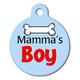 Mamas Boy Pet ID Tag Small