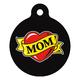 Mom Heart Tattoo Pet ID Tag Small
