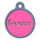 Princess Pet ID Tag Large