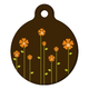 Retro Garden Pet ID Tag Small