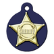 Sheriff Badge Pet ID Tag Large
