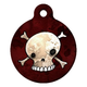 Skull and Crossbones Pet ID Tag Small