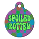 Spoiled Rotten Pet ID Tag Large