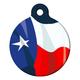 Texas Flag Pet ID Tag Small