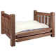 Homestead Collection Stained Wood Dog Bed Large